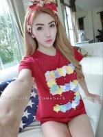 TP0024 เสื้อผ้าแฟชั่น เสื้อผ้าเกาหลี เสื้อผ้าแฟชั่นเกาหลี เสื้อเกาหลี เสื้อแฟชั่น เสื้อแขนสั้น เสื้อยืด