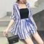 PS0019 เสื้อผ้าแฟชั่น เสื้อผ้าเกาหลี ชุดเซ็ทเกาหลี ชุดเซ็ต ชุดไปเที่ยว ชุดออกงาน ชุดทำงาน (สีฟ้า) thumbnail 2