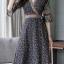 MD0014 เสื้อผ้าแฟชั่นเกาหลี เดรสเกาหลี เดรสยาว เดรสแฟชั่น แม็กซี่เดรส Maxidress ลายดอก Maxi Dress thumbnail 2