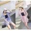 PS0018 เสื้อผ้าแฟชั่น เสื้อผ้าเกาหลี ชุดเซ็ทเกาหลี ชุดเซ็ต ชุดไปเที่ยว ชุดออกงาน ชุดทำงาน (สีชมพู) thumbnail 4