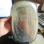 Retro Iron Plate จานสังกะสีปั๊มลายสไตล์เรทโทร (ลาย Home-มีรอยหลังจาน)