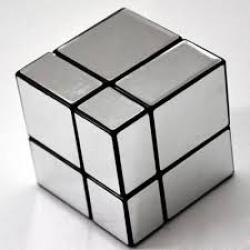 Rubik รูบิค Mirror Cube 2x2x2 Cube Style สีเงิน