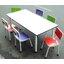 ชุดกิจกรรมเด็ก พร้อมเก้าอี้โครงเหล็กปิดผิวโฟเมก้าหลากสี สำหรับ 6 ที่นั่ง thumbnail 1