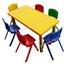 ชุดโต๊ะพลาสติกเด็กสี่เหลี่ยมผืนผ้าพร้อมเก้าอี้พลาสติก ขนาด 120*60*52 ซม. thumbnail 1