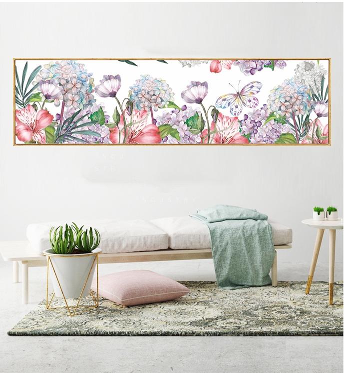 ดอกไม้ ผีเสื้อ ครอสติสคริสตัล Diamond painting ภาพติดเพชร งานฝีมือ DIY