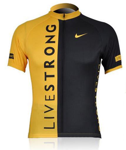 เสื้อปั่นจักรยาน แขนสั้น LIVESTRONG เหลือง