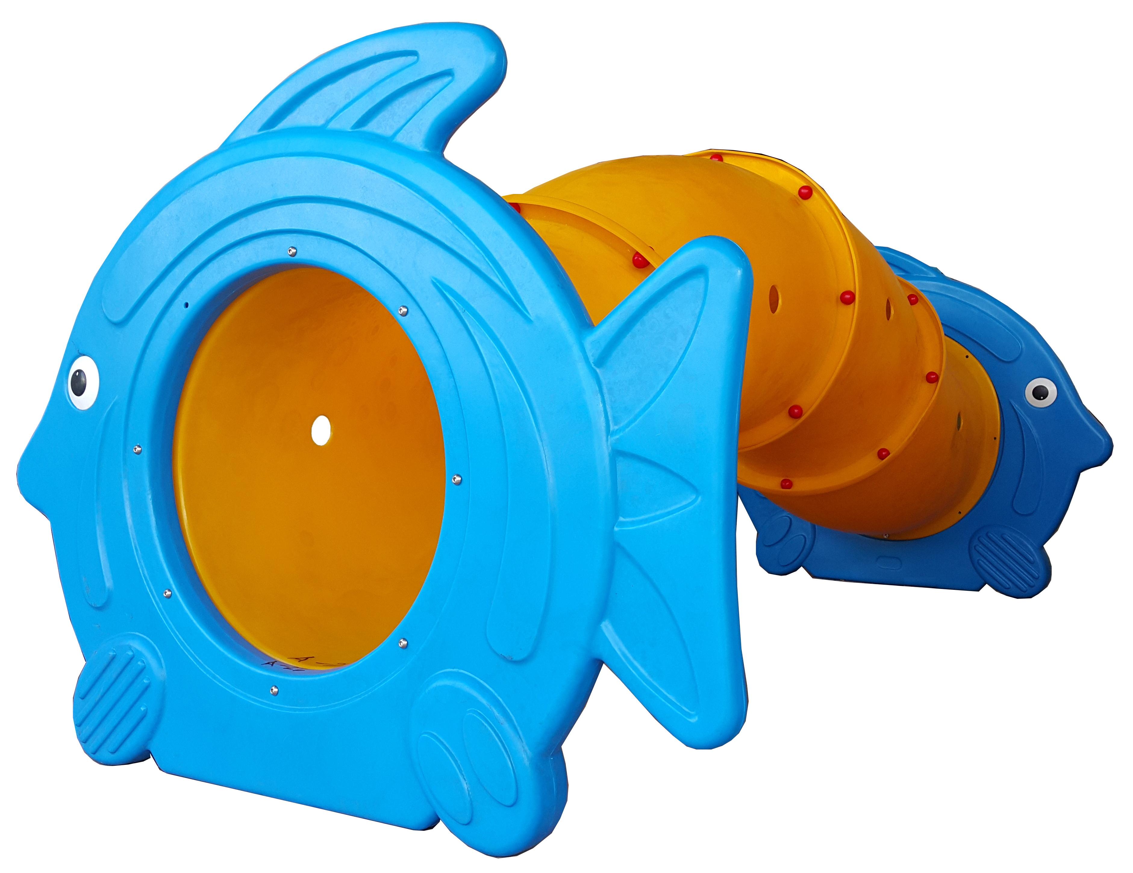 ของเล่นพลาสติก อุโมงค์ปลาการ์ตูนท่อยาว