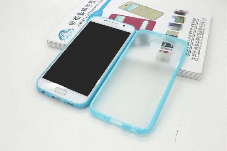 เคส ขอบสี หลังขุ่น (ขอบยาง ฝาหลังพลาสติก) - Galaxy S6