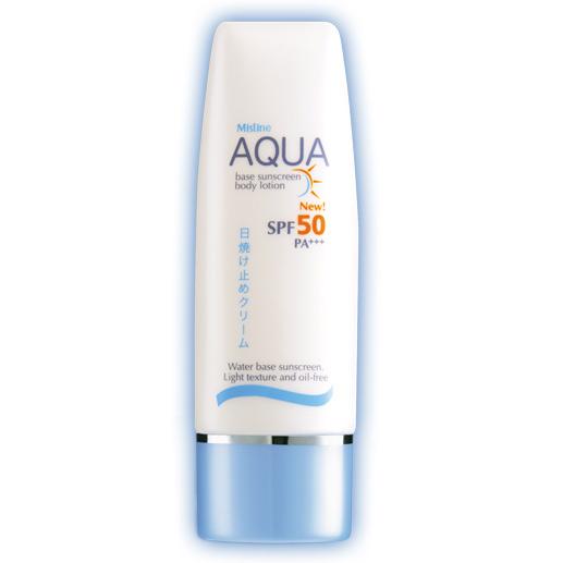 Mistine Aqua Base Sunscreen Body Lotion SPF 50 PA+++ 70ml