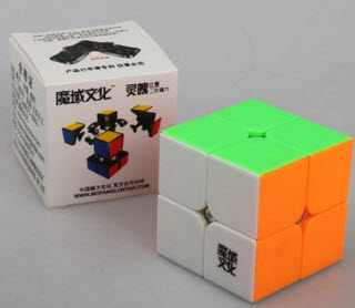 รูบิค Rubik MoYu LingPo 2x2x2 50mm Stickerless