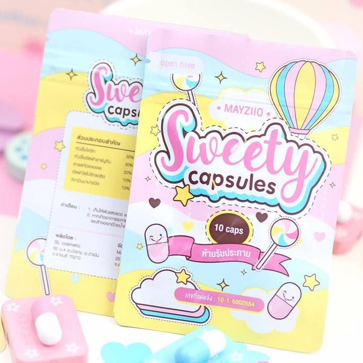 Sweety Capsules by Mayziio สวีตตี้ แคปซูล ศูนย์จำหน่ายราคาส่ง ผิวกายขาว กระจ่างใส ทั่วเรือนร่าง ส่งฟรี