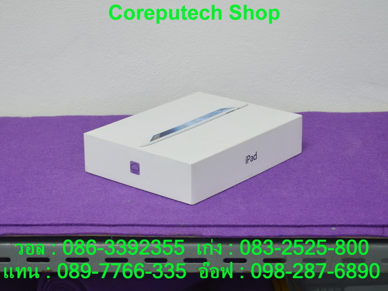 iPad (3rd gen) Wi-Fi, Cellular 32GB White Color สภาพสวย 98 เปอร์ เครื่องศูนย์ไทย อุปกรณ์ครบกล่อง จัดไป 8,900 บาท