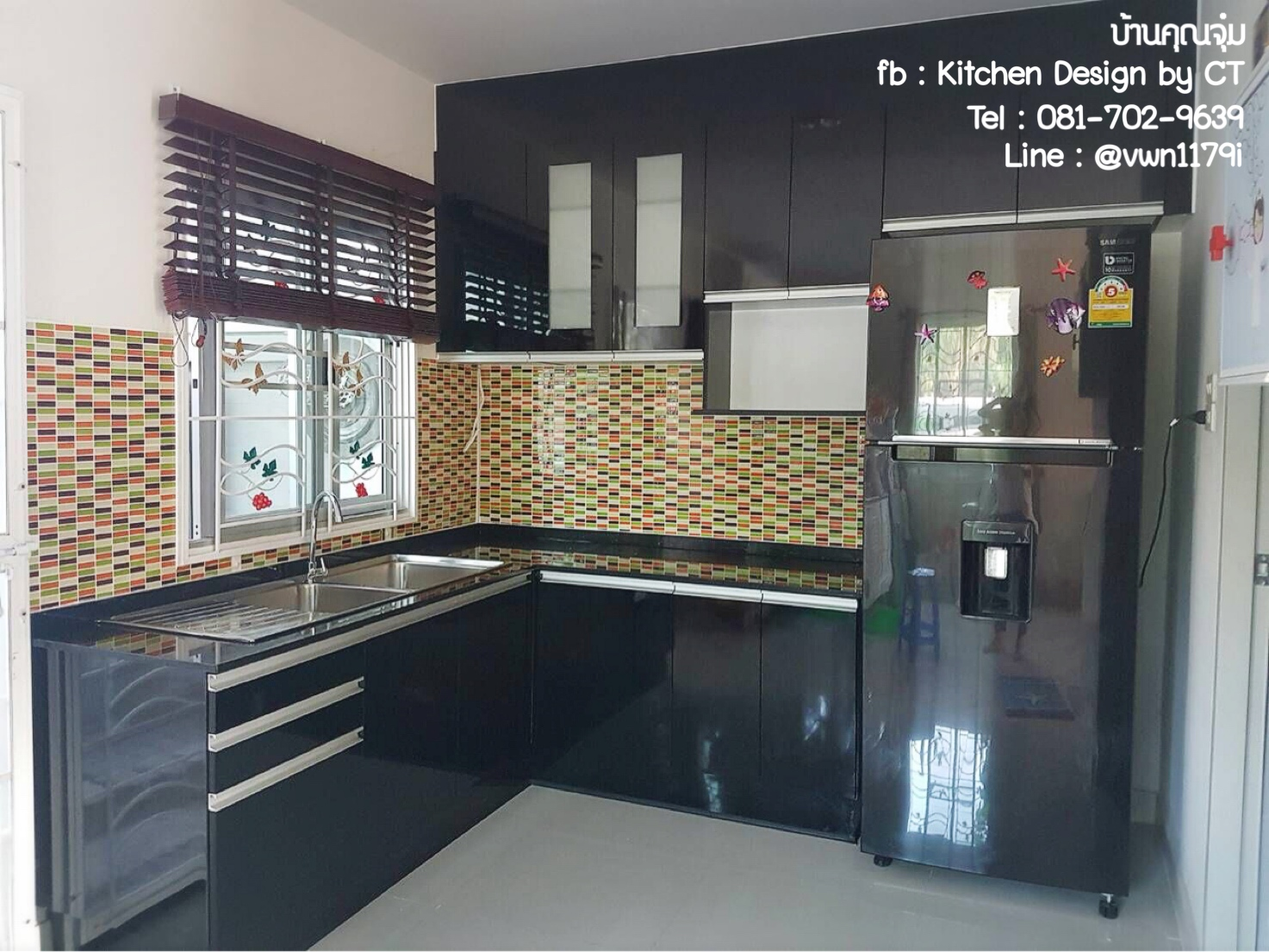 Jet Black Kitchen (ครัวบิ้วอินสีดำสไตล์โมเดิร์น)