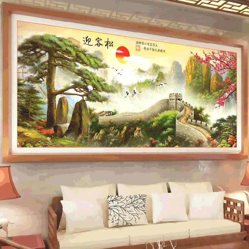 กำแพงเมืองจีน ภาพติดเพชร ครอสติชคริสตรัล โมเสก Diamond painting