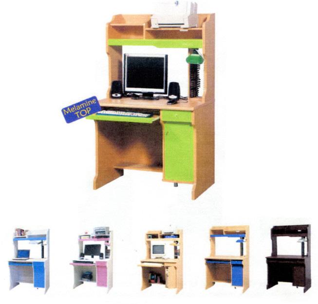 Pathfinder โต๊ะคอมพิวเตอร์ผิวเมลามีน หลากสี
