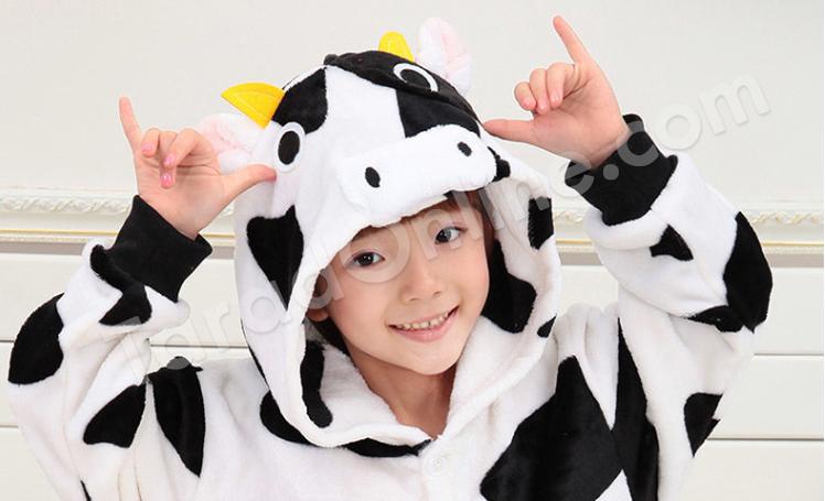 ชุดนอนมาสคอตเด็ก ลูกวัว Size 115 (ขนาด 130 cm - 140 cm)