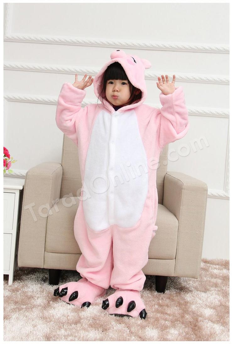 ชุดนอนมาสคอตเด็ก หมูน้อย Size 85 (ขนาด 100 cm - 110 cm)