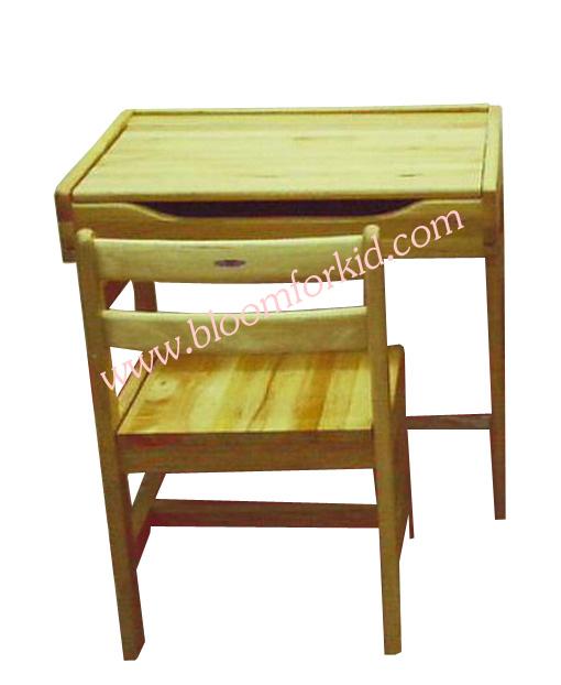 โต๊ะเขียนหนังสือเด็ก (M)โต๊ะเรียนเด็กไม้ยางพารา