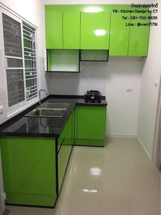 Popular Green Kitchen (ครัวบิ้วอินสีเขียวสไตล์โมเดิร์น)