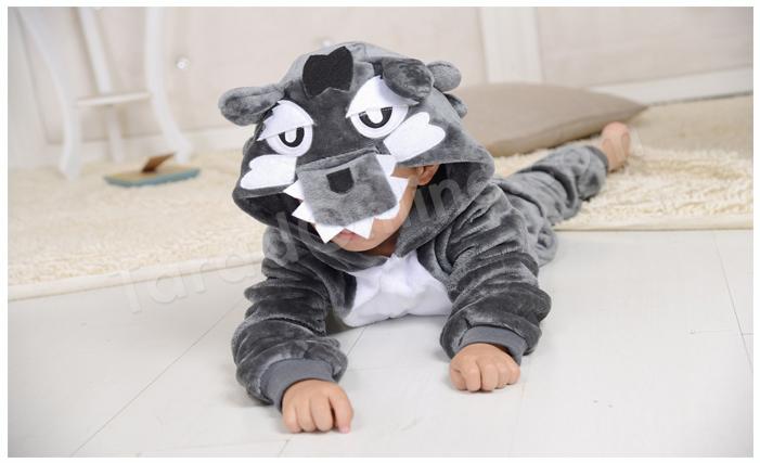 ชุดนอนมาสคอตเด็ก หมาป่า Size 115 (ขนาด130cm - 140cm)
