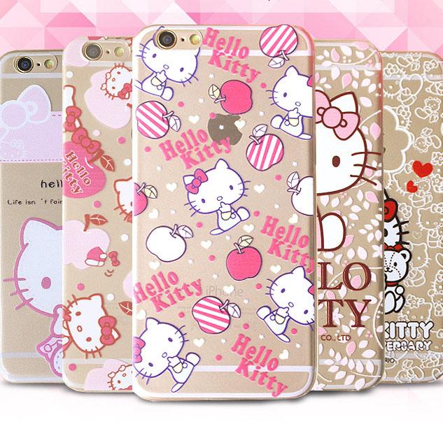 เคสลายคิตตี้ Kitty (เคสยาง) - iPhone6+