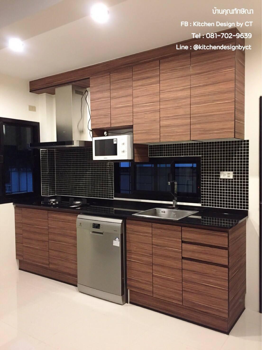 Modern Oak Kitchen (ครัวบิ้วอินสีโอ๊คสไตล์โมเดิร์น)