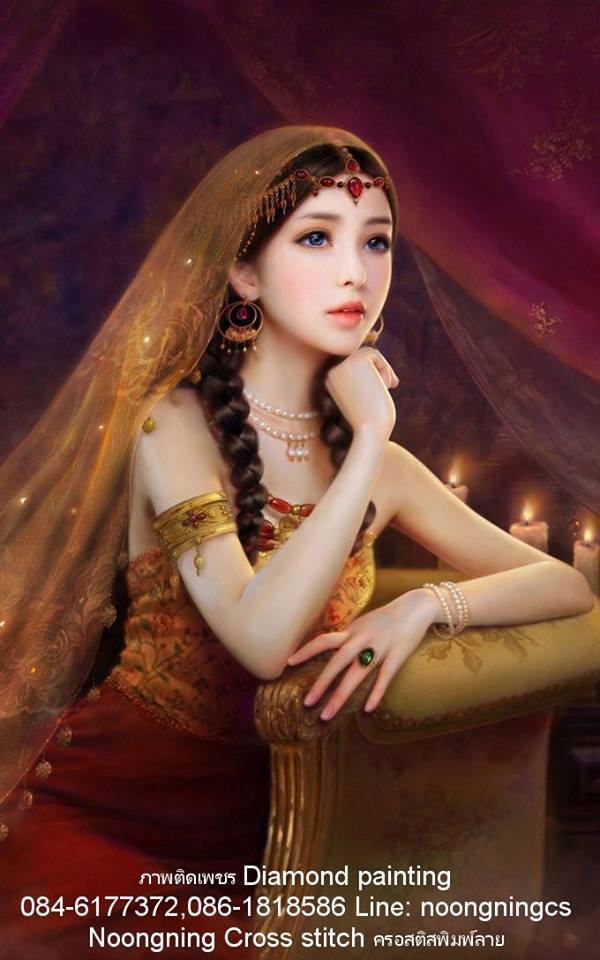 Beautiful Girls ภาพติดเพชร Diamond painting