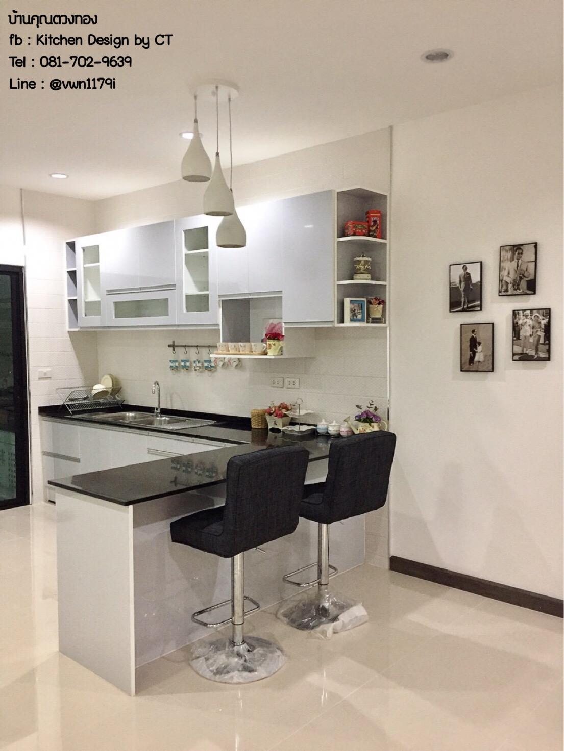 Grey Modern Kitchen (ครัวบิ้วอินสีเทาสไตล์โมเดิร์น)