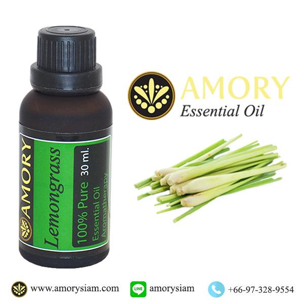 Lemongrass 100%Pure Essential oil 30 ml.ตะไคร้บ้าน น้ำมันหอมระเหย