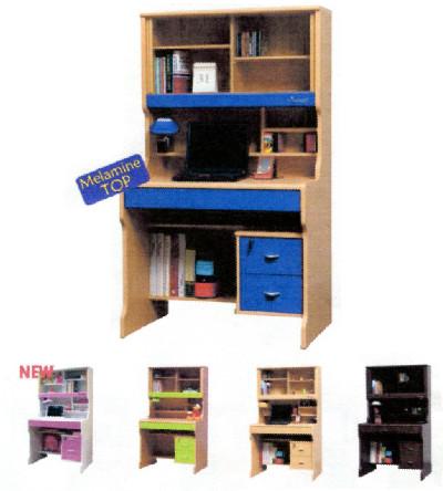 Windsurf โต๊ะเขียนหนังสือเด็ก พร้อมตู้เก็บหนังสือในตัว