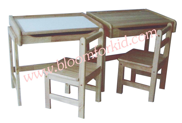 โต๊ะเขียนหนังสือเด็ก (S) โต๊ะเรียนเด็กไม้ยางพารา