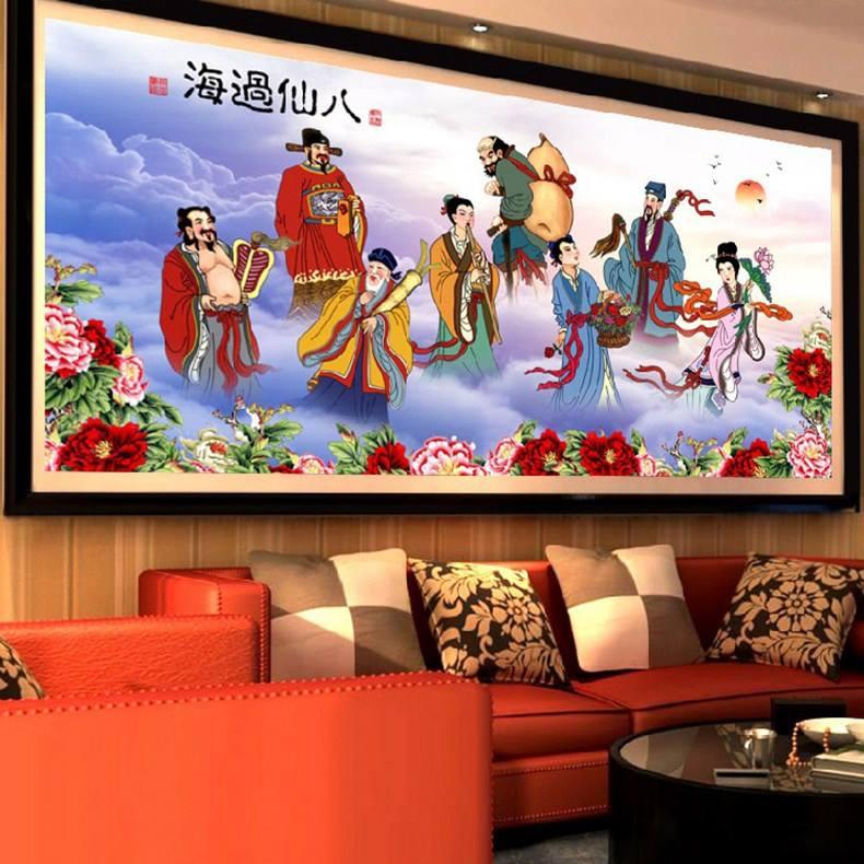 คนจีน 8 คน ครอสติสคริสตัล Diamond painting ภาพติดเพชร งานฝีมือ DIY