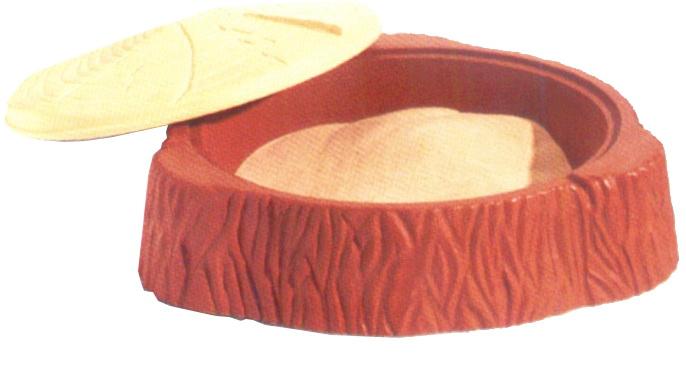 กระบะทรายขอนไม้ ขนาด 104 x 104 x 26 cm