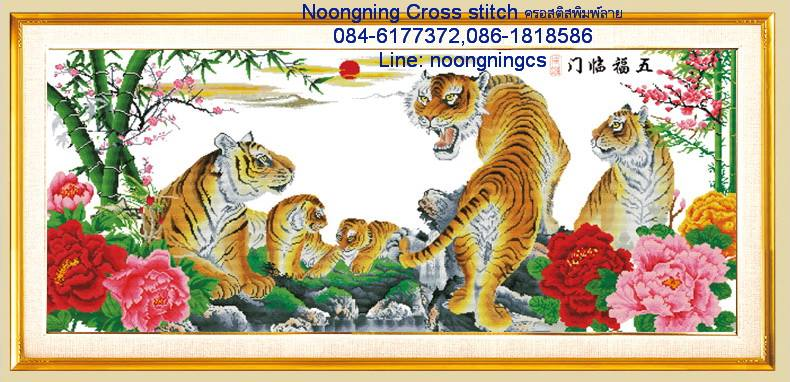 ครอบครัวเสือครอสติสจีนพิมพ์ลาย