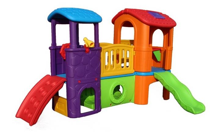 ของเล่นพลาสติก บ้านน้อย 2 ชั้นหลากสี ขนาด 300*187*174 ซม.