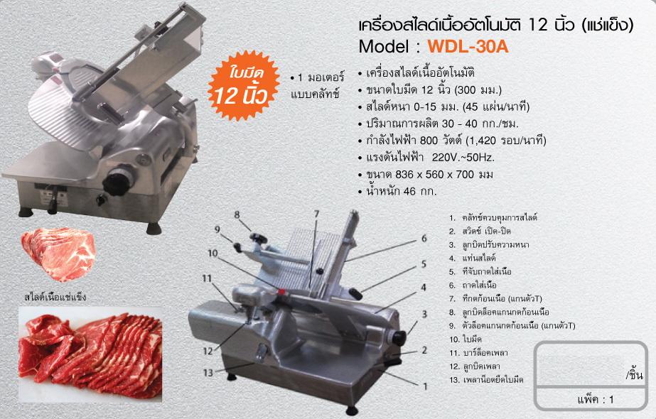 เครื่องสไลด์เนื้ออัตโนมัติ 12 นิ้ว (แช่งแข็ง)