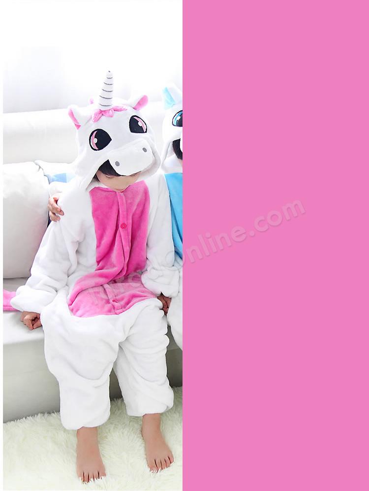 ชุดนอนมาสคอตเด็ก ยูนิคอน ชมพู Size 115 (ขนาด 130 cm - 140 cm)