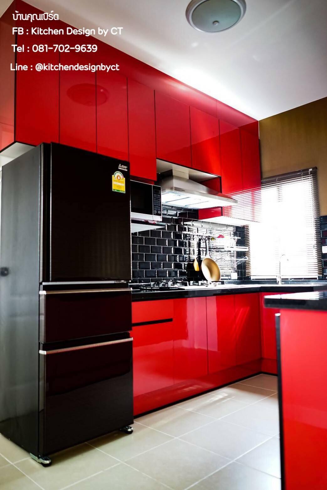 Smart Red Kitchen (ครัวบิ้วอินสีแดงสไตล์โมเดิร์น)