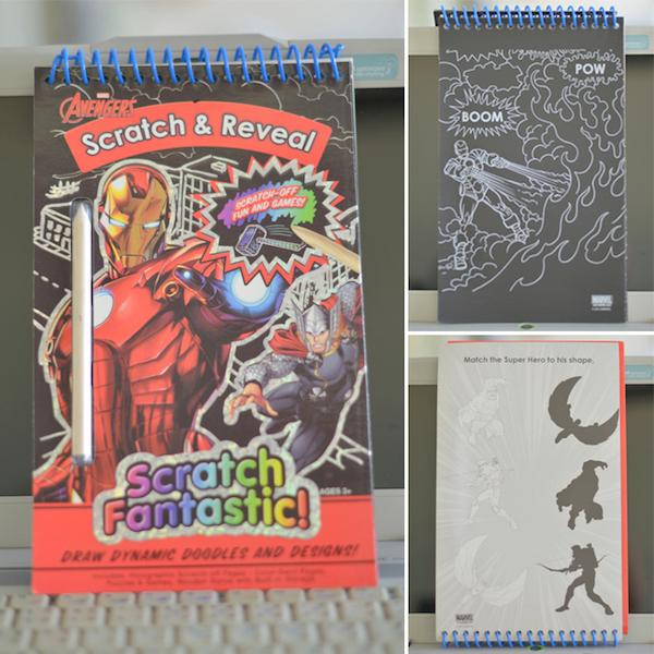 สมุดแผ่นขูดเสริมทักษะและจินตนาการเด็ก The Avengers