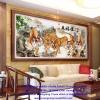 ฝูงเสือโคร่ง ภาพติดเพชร ครอสติชคริสตรัล โมเสก Diamond painting