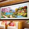 บ้านริมธาร ครอสติสคริสตัล Diamond painting ภาพติดเพชร งานฝีมือ DIY