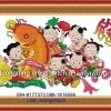 ปลาคราฟเด็กจีน ครอสติสพิมพ์ลาย