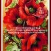ดอกไม้สีแดง ภาพติดเพชร
