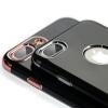 เคสยาง ดำ ขอบสี - เคส iPhone 7