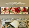 ดอกกุหลาบ ครอสติสคริสตัล Diamond painting ภาพติดเพชร งานฝีมือ DIY