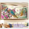 นกยูง ครอสติสคริสตัล Diamond painting ภาพติดเพชร งานฝีมือ DIY