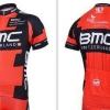 เสื้อปั่นจักรยาน แขนสั้น ลาย BMC ดำแดง