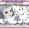 นาฬิกาผู้หญิง ชุดปักครอสติช พิมพ์ลาย งานฝีมือ
