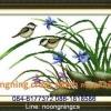 นกคู่&ดอกหญ้า ครอสติสจีนพิมพ์ลาย