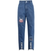 Pre-Order กางเกงยีนส์ขายาว ปักลายไวกิ้ง